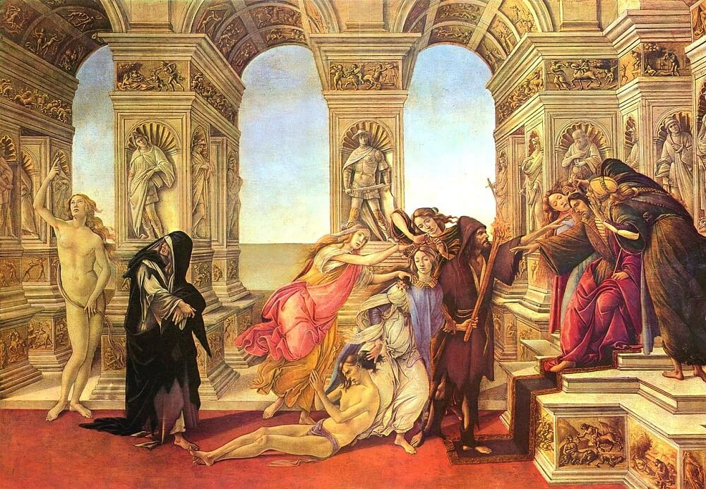 Calumny of Apelles, 1494 by Sandro Botticelli