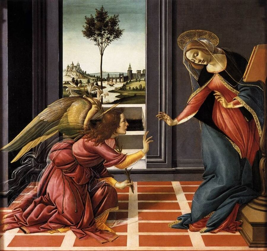 Cestello Annunciation, 1490 by Sandro Botticelli
