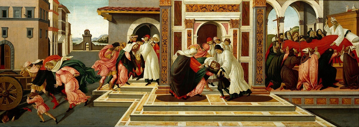 Last Miracle and the Death of St. Zenobius, 1505 by Sandro Botticelli