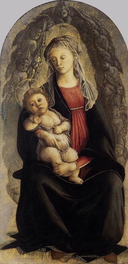 Madonna in Glory with Seraphim, 1470 by Sandro Botticelli