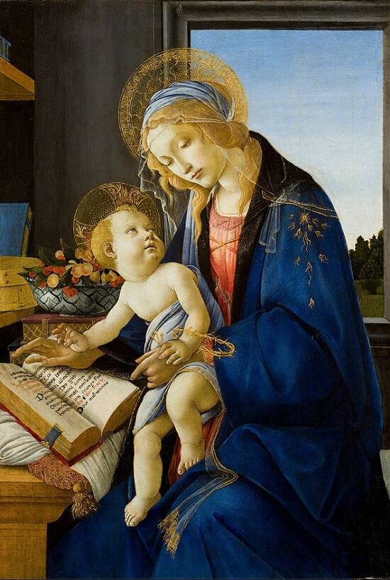 Madonna of the Book, 1483 by Sandro Botticelli