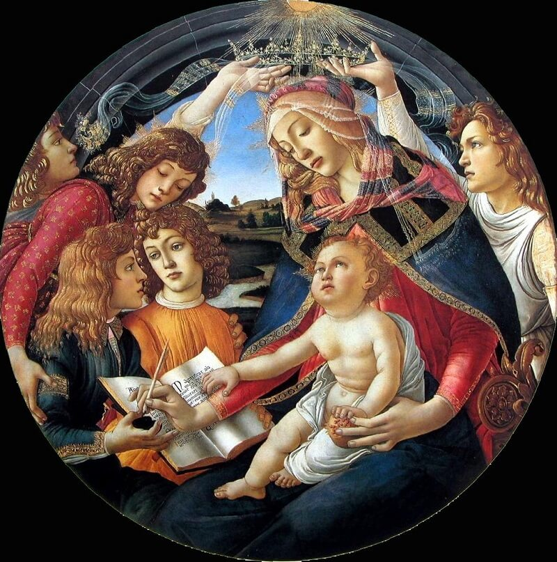 Madonna of the Magnificat, 1485 by Sandro Botticelli