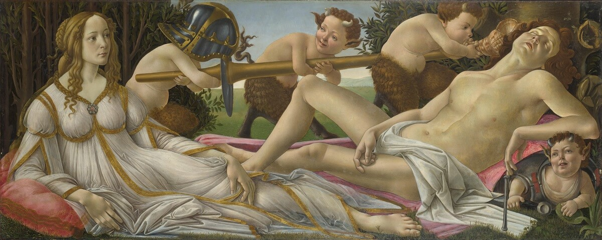 Mars and Venus, 1843 by Sandro Botticelli