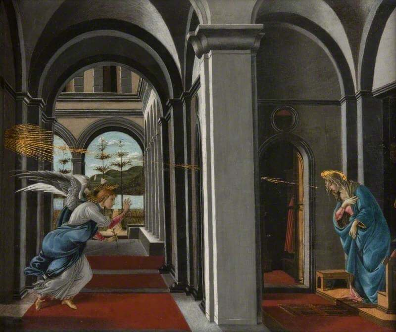 The Annunciation, 1490 by Sandro Botticelli