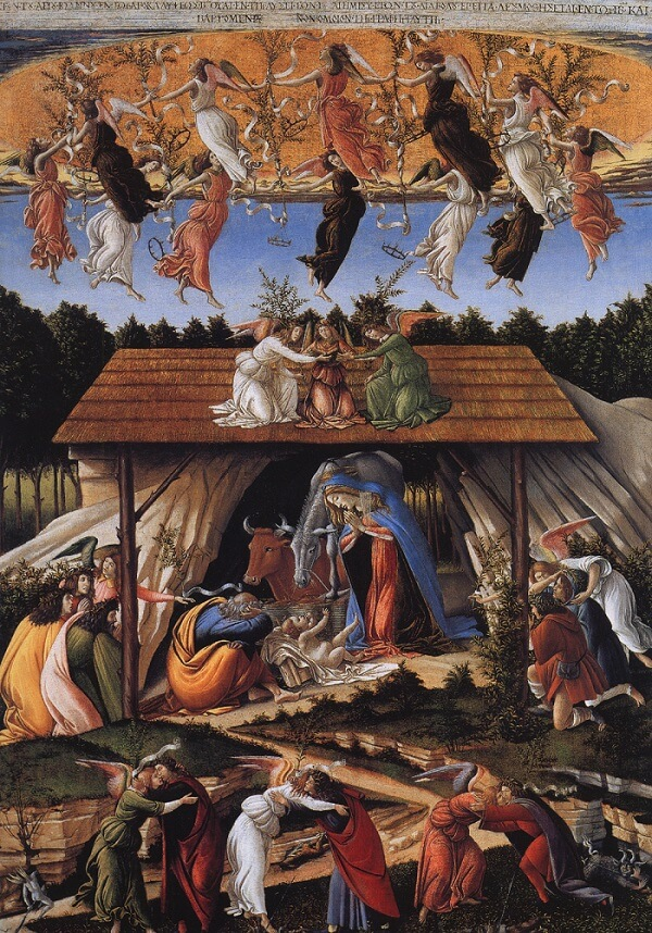 The Mystical Nativity, 1500 by Sandro Botticelli