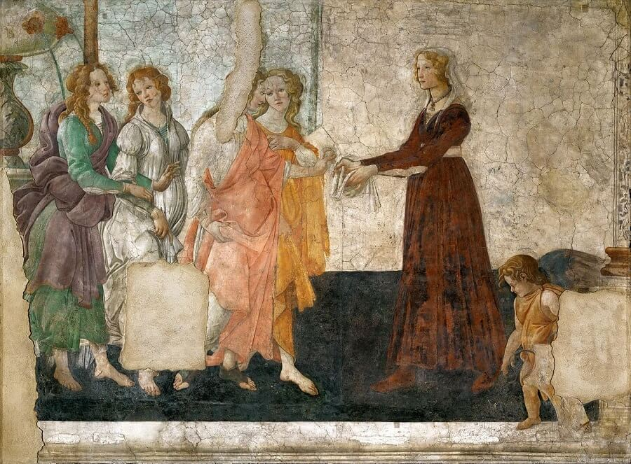 Venus and the Three Graces Presenting Gifts to a Young Woman, 1486